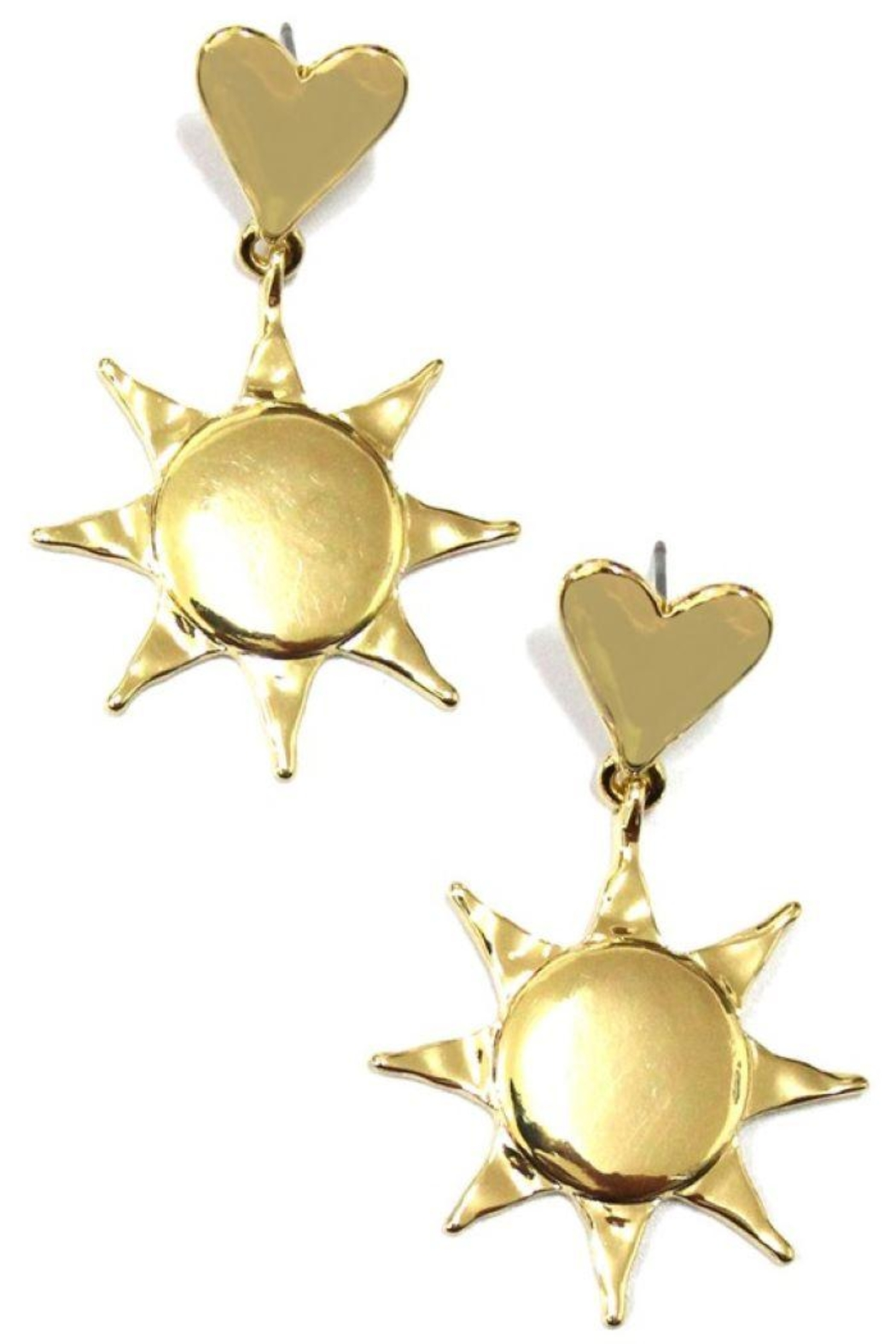 Ana Accessories Heart And Sun Link Drop Earrings - Main Image