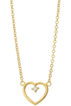 Ana Accessories Heart Pendant With Cz Stone Necklace - Alternate List Image