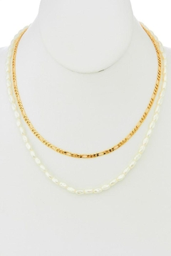 Shoptiques Product: Pearl And Chain Necklace