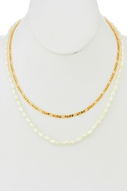 Ana Accessories Pearl And Chain Necklace - Product Mini Image