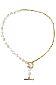 Ana Accessories Pearl Chain Necklace - Alternate List Image