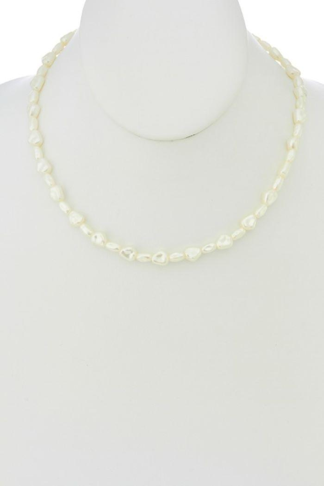 Ana Accessories Pearl Charm Necklace - Front Full Image