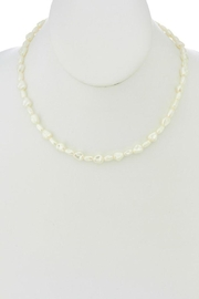 Ana Accessories Pearl Charm Necklace - Front full body