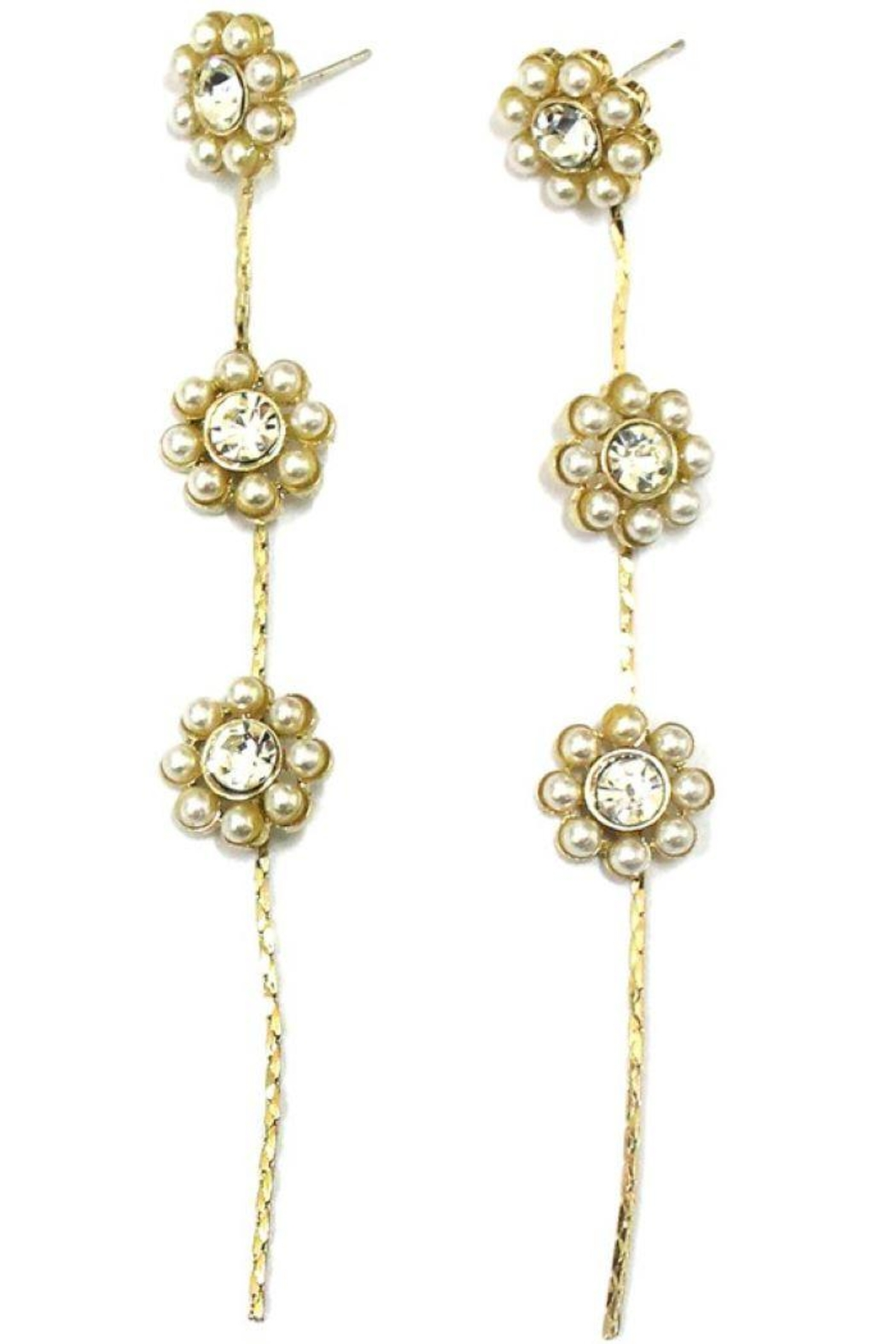 Ana Accessories Pearl Flower Earring - Main Image