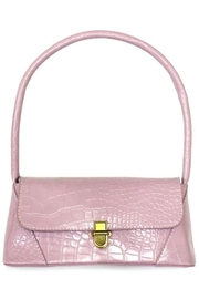Ana Accessories Pink Alligator Pattern Flap Bag - Product Mini Image