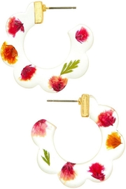 Ana Accessories Pink Hoop Earring - Product Mini Image