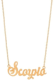 Ana Accessories Scorpio Necklace - Front cropped