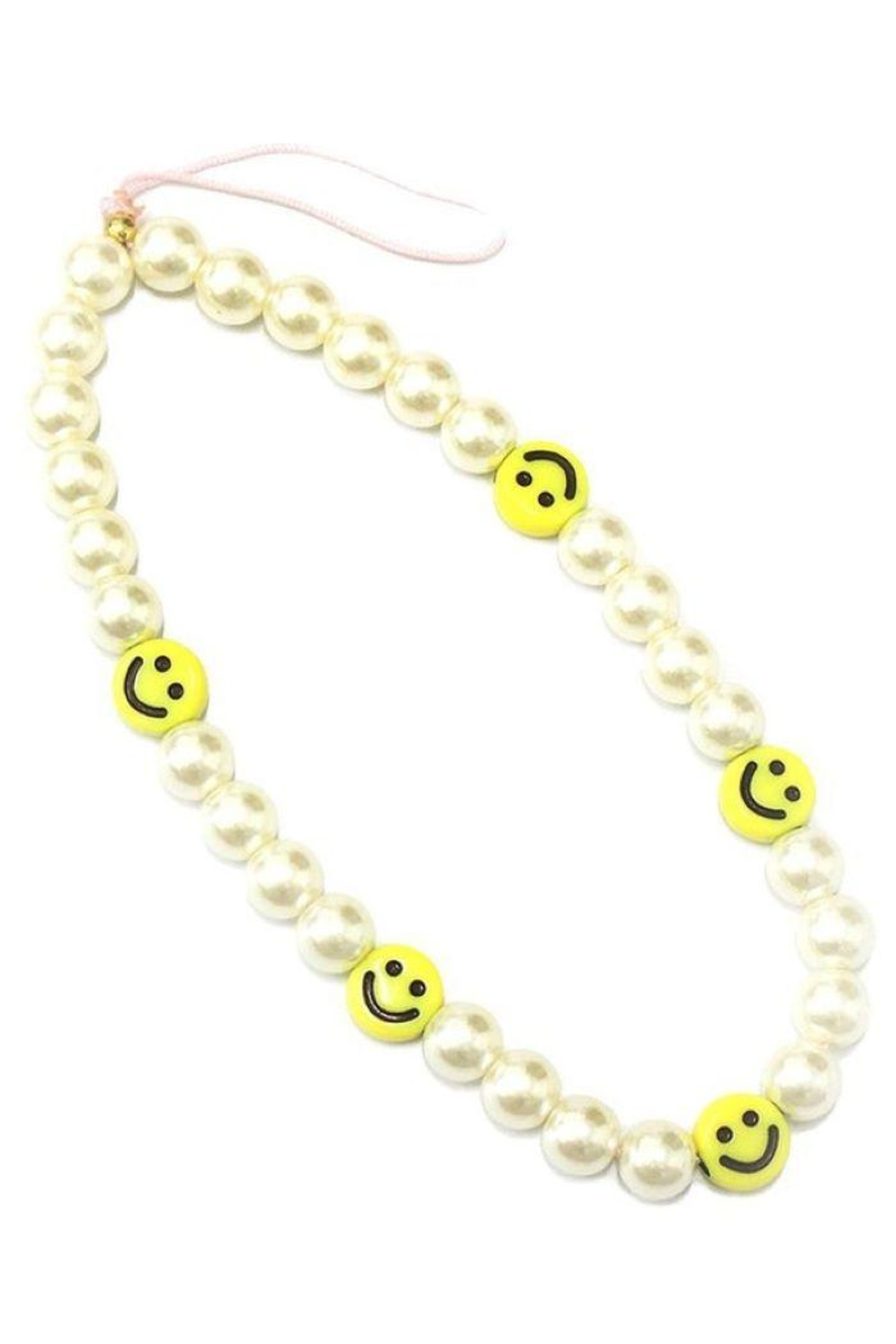 Ana Accessories Smiley Face Charm Phone Strap - Main Image