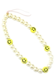 Ana Accessories Smiley Face Charm Phone Strap - Product Mini Image