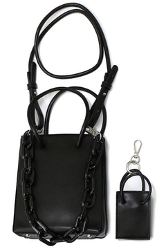 Shoptiques Product: Square Handbag With Mini Bag