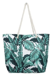 Ana Accessories Tropical Leaf Beach Bag - Product Mini Image