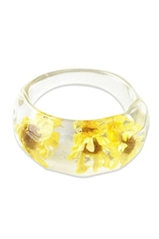Ana Accessories Yellow Dried Flower Ring - Product Mini Image