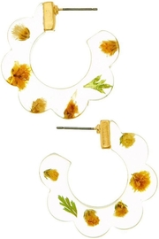 Ana Accessories Yellow Hoop Earring - Product Mini Image