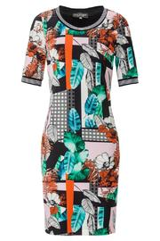 Ana Alcazar Fitted Print Dress - Product Mini Image