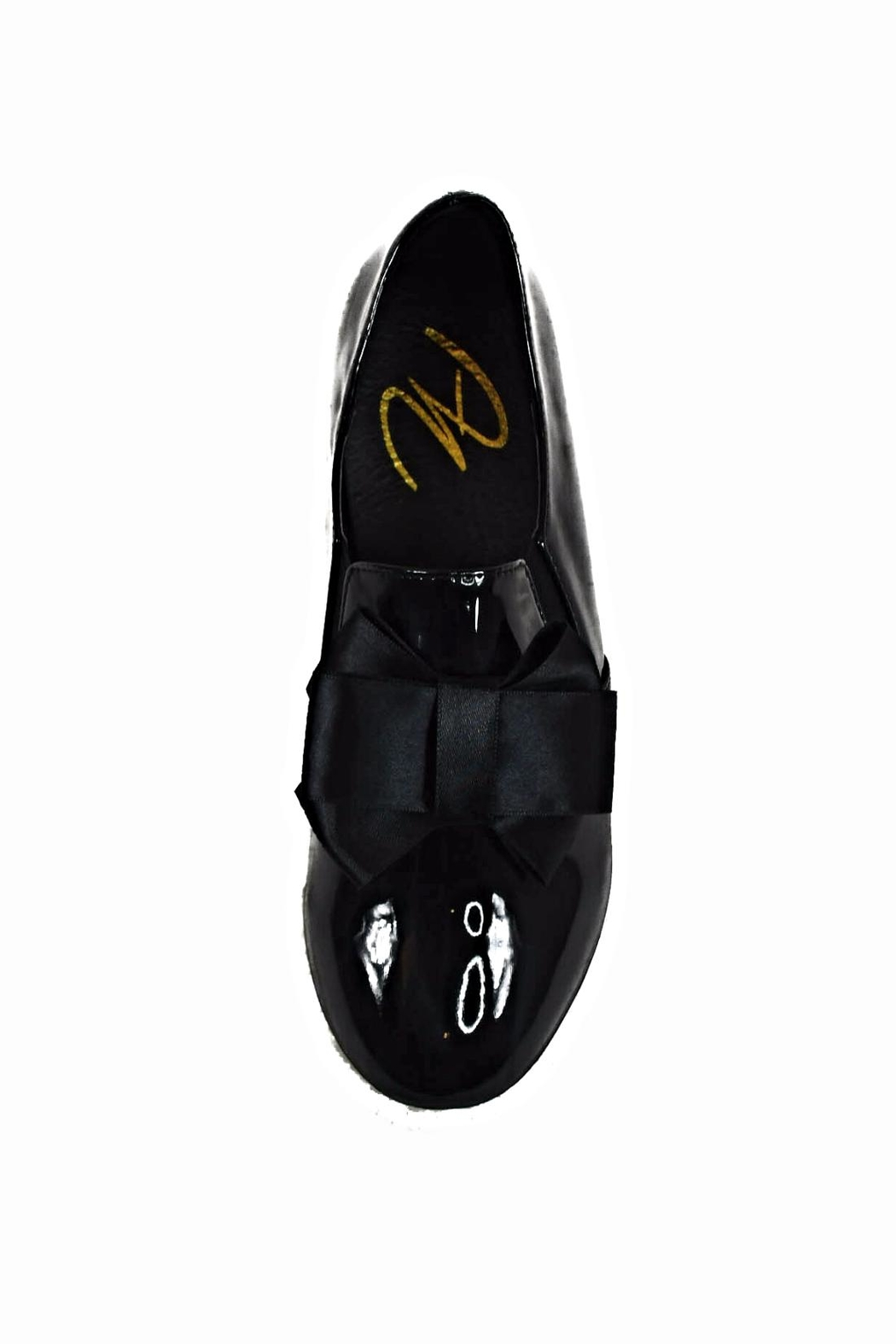 Ana Colina Boutique Black Bow Sneakers - Front Full Image
