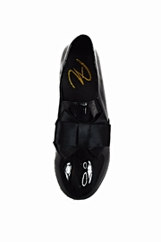 Ana Colina Boutique Black Bow Sneakers - Front full body