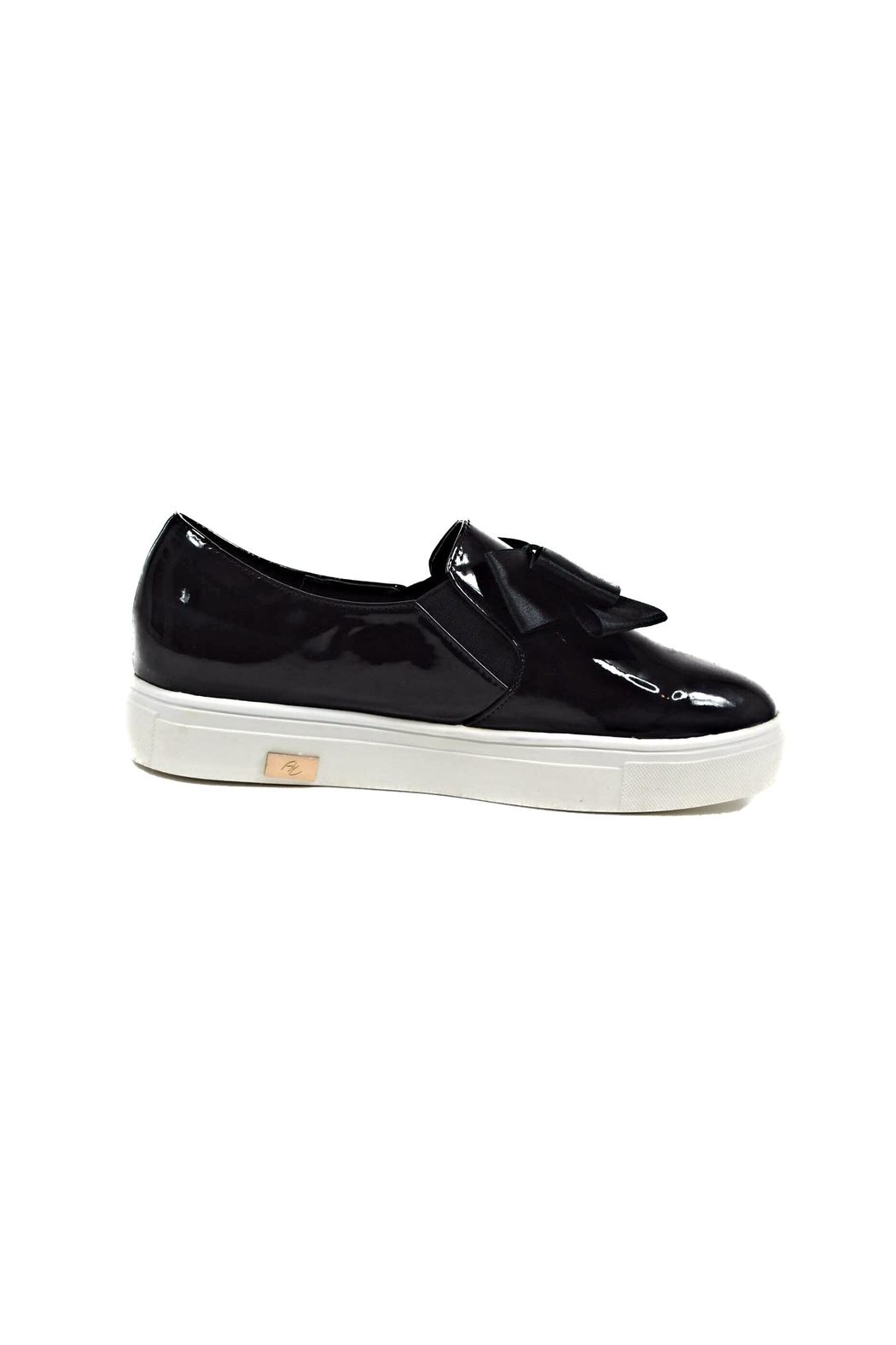 Ana Colina Boutique Black Bow Sneakers - Side Cropped Image