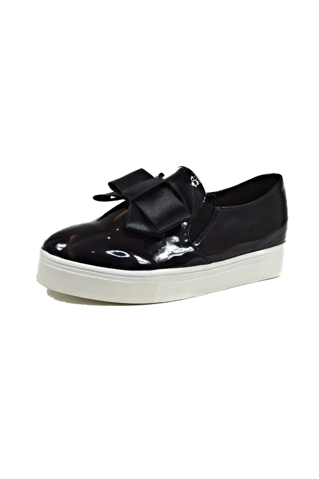 Ana Colina Boutique Black Bow Sneakers - Main Image