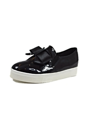 Ana Colina Boutique Black Bow Sneakers - Front cropped