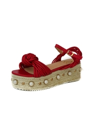 Ana Colina Boutique Pearl Sandals Wedges - Product Mini Image