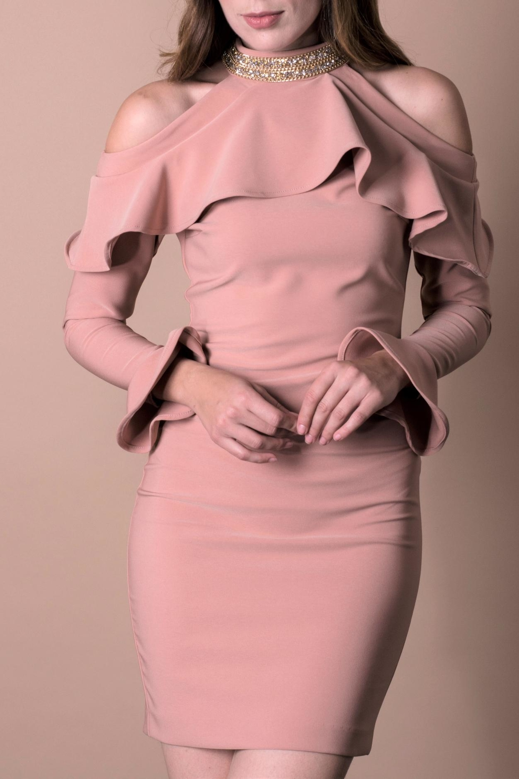 ANA PEREZ Pink Lady Dress - Front Cropped Image