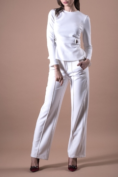 ANA PEREZ White DragonFly Blouse - Product List Image