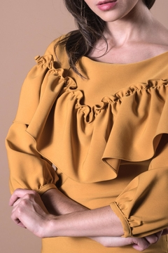 ANA PEREZ Yellow Casual Dress - Alternate List Image