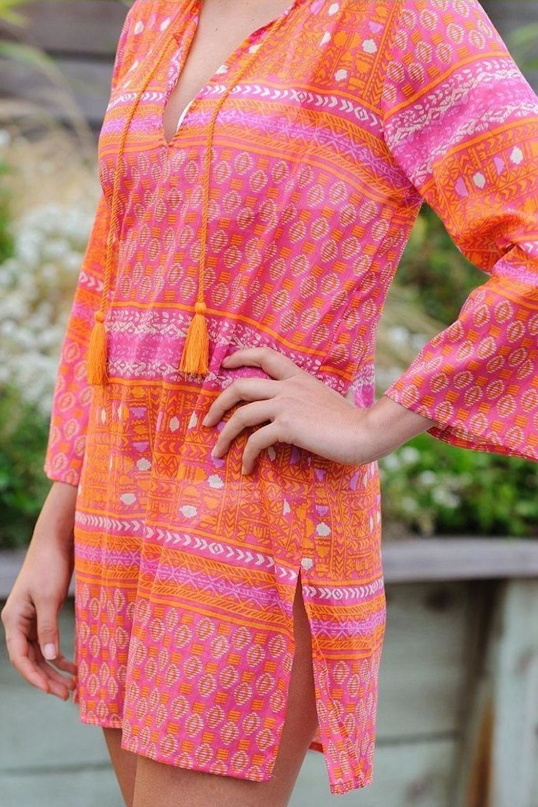 Rock Flower Paper Anafi Beach Tunic - Front Full Image