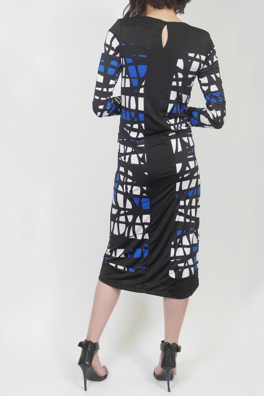 Analili Abstract Sheath Dress - Side Cropped Image