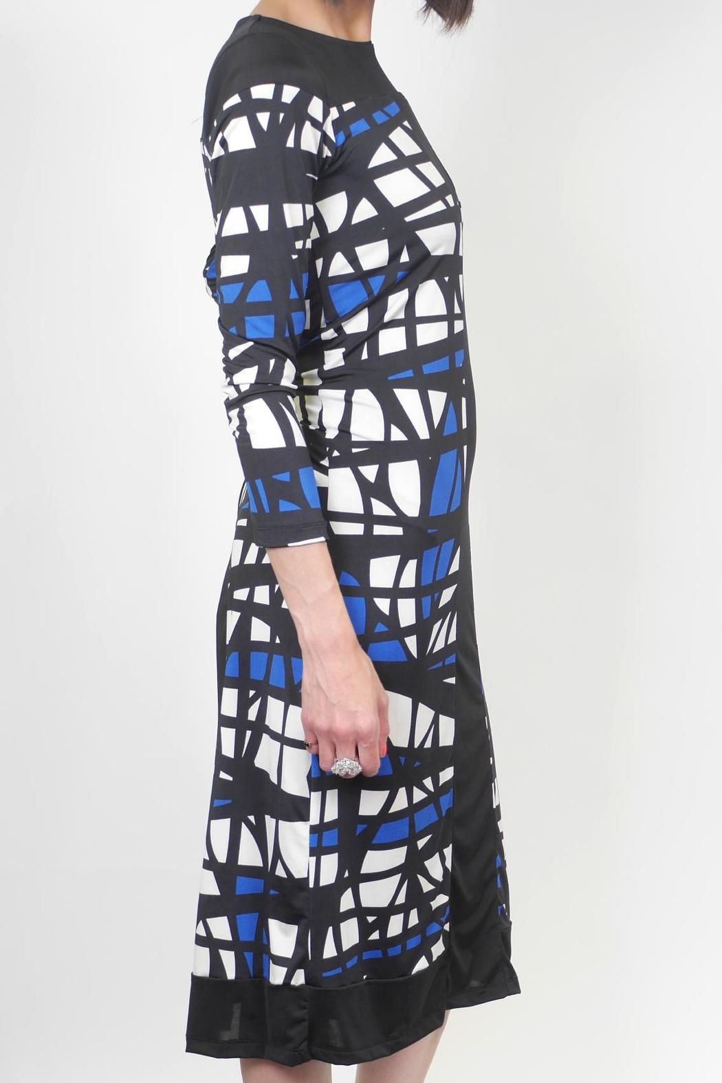 Analili Abstract Sheath Dress - Front Full Image