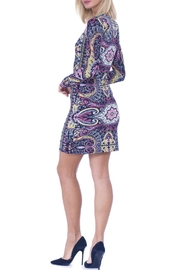 Analili Baroque Pattern Dress - Front full body