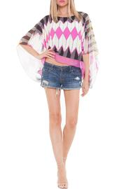 Analili Flora Chevron Top - Front cropped