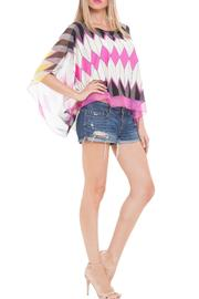 Analili Flora Chevron Top - Front full body