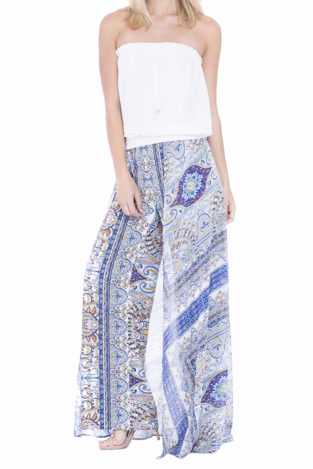 Analili Paisley Flowy Pant - Front Cropped Image