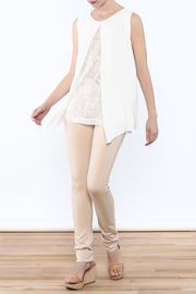Analili White Panel Top - Front full body