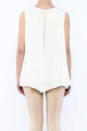 Analili White Panel Top - Back cropped