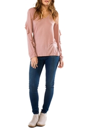 Anama Blush Ruffle Sleeve - Product Mini Image