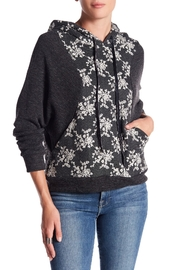 Anama Charcoal Floral Hoodie - Product Mini Image