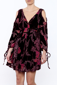 Anama Burgundy Floral Dress - Product List Image