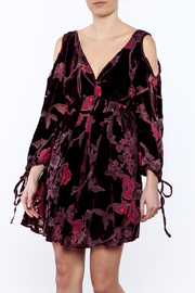Anama Burgundy Floral Dress - Product Mini Image