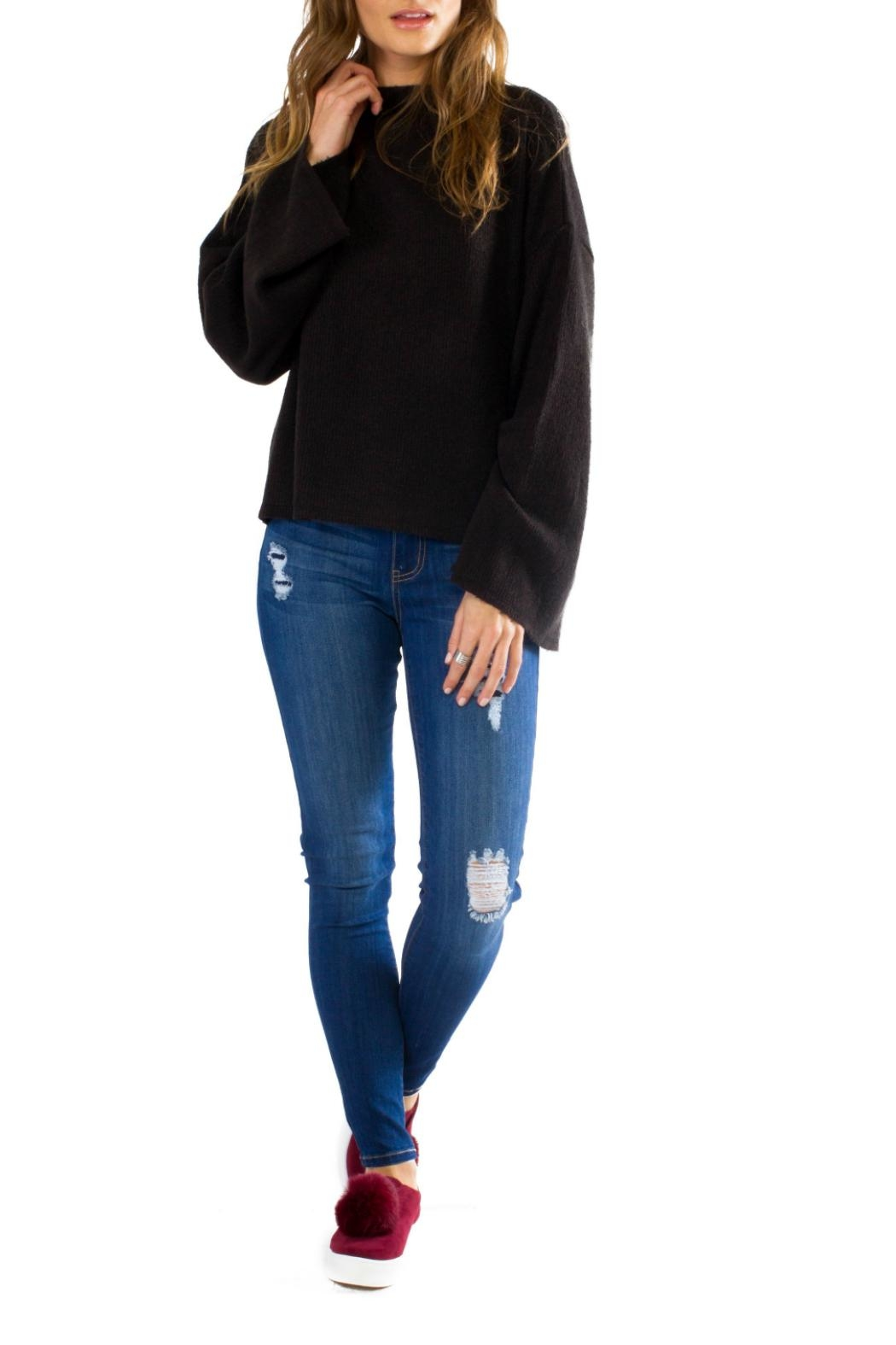 Anama Cozy Bell Sleeve Pullover - Main Image