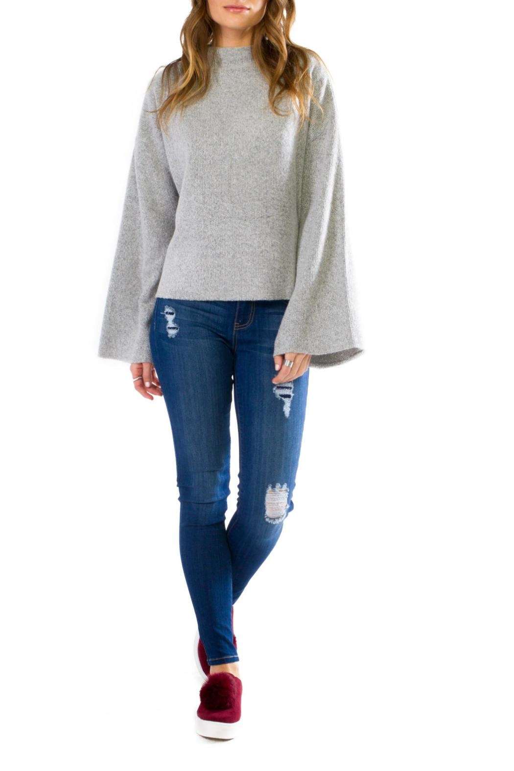 Anama Cozy Bell Sleeve Pullover - Front Cropped Image