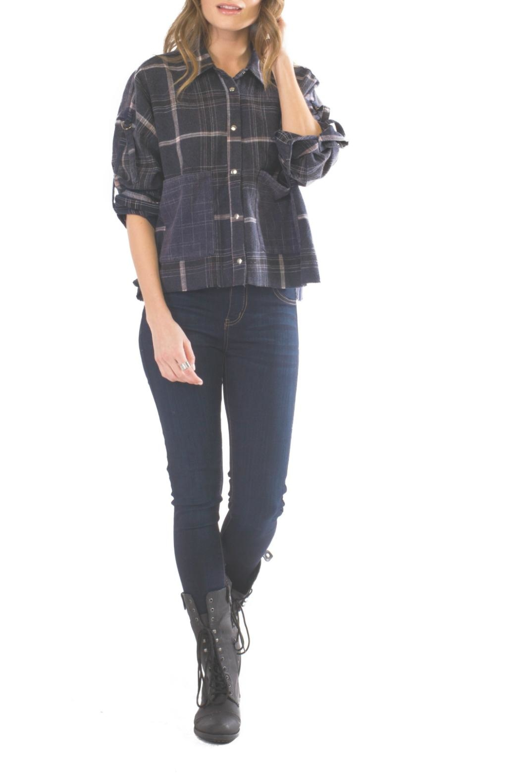 Anama Cropped Flannel Top - Main Image