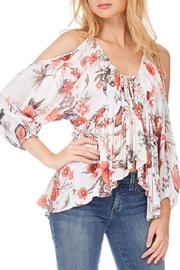 Anama Floral Cold-Shoulder Top - Front cropped