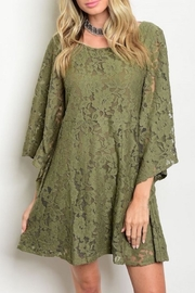 Anama Olive Lace Dress - Product Mini Image