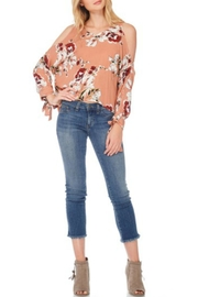 Anama Open-Shoulder Floral Top - Product Mini Image