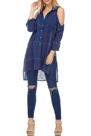 Anama Plaid Buttondown Tunic - Product Mini Image