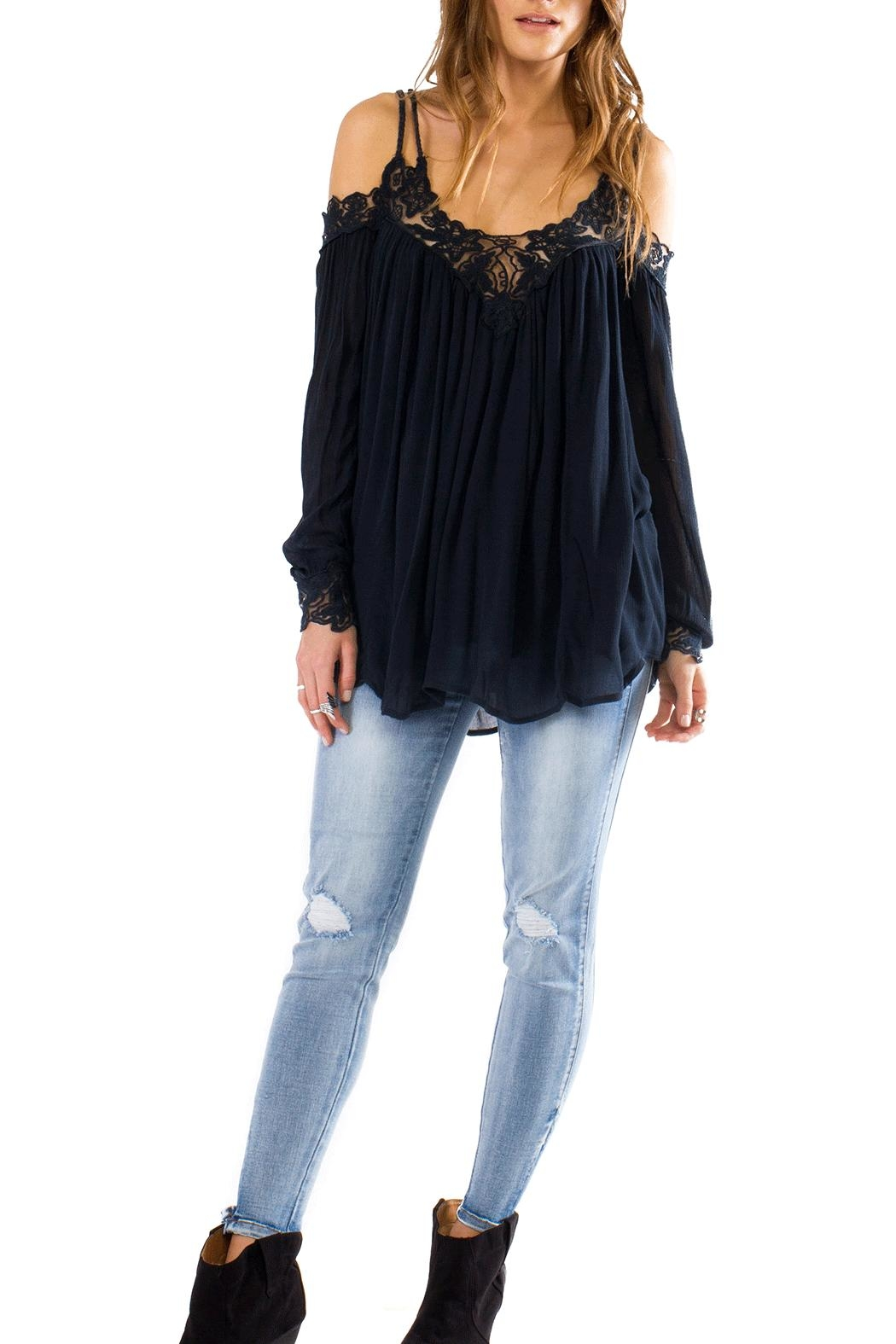 Anama Rope Tie Blouse - Front Cropped Image