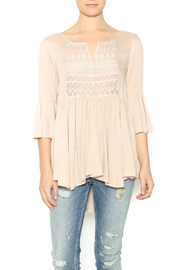 Shoptiques Product: Taupe Peasant Top