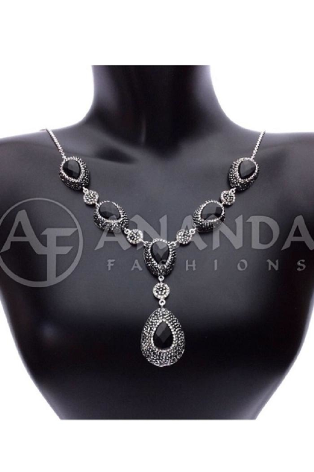 collection rg products necklace diamond ef yg jewellery trio triostone jewelry onyx